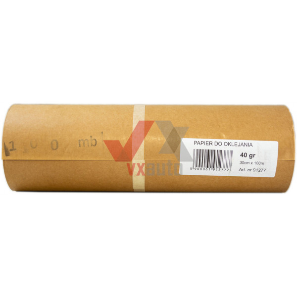 Папір покрівельний світло-коричневий 40 г/мм  300 мм х 100 м NOVOL