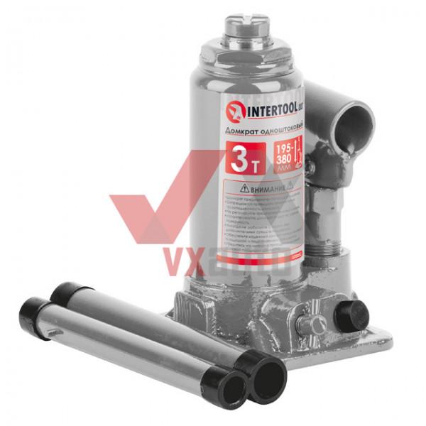 Домкрат гідравлічний  3 т 194-372 мм Intertool (