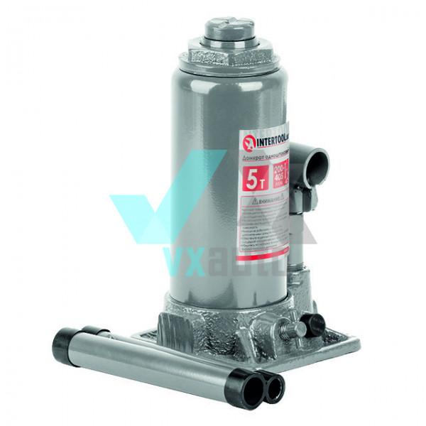 Домкрат гідравлічний  5 т 200-385 мм Intertool (