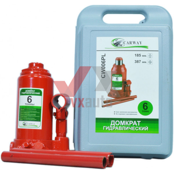 Домкрат гідравлічний  6 т 185-387 мм Carway (