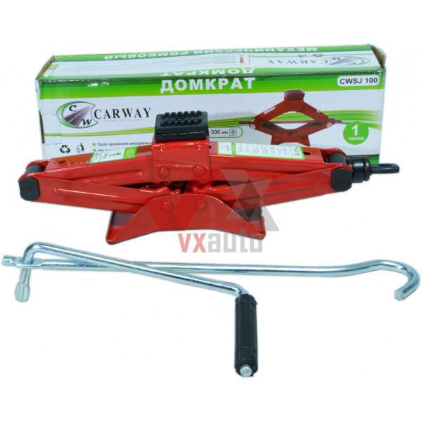 Домкрат механічний 1 т 110-330 мм Carway (ромб)