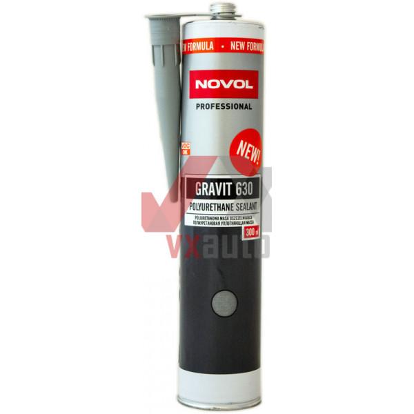 Герметик кузова поліуретановий 300 мл сірий NOVOL Gravit 630