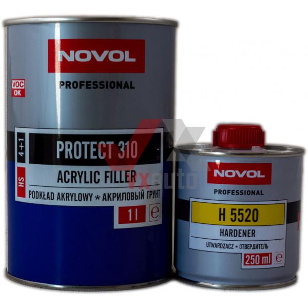 Грунт акриловий 4:1  1.0 л білий NOVOL HS Protect 310 (затв. 5520 - 250 мл)