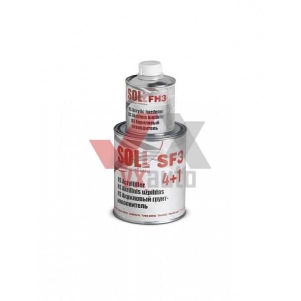 Грунт акриловий 4:1  1.0 л сірий SOLL HS SF3 (затв. HS FH3 - 250 мл)