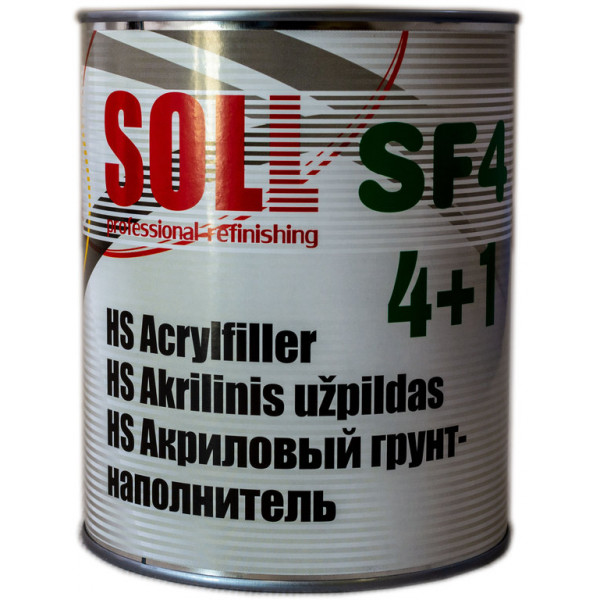 Грунт акриловий 4:1  1.0 л світло-сірий SOLL HS SF4
