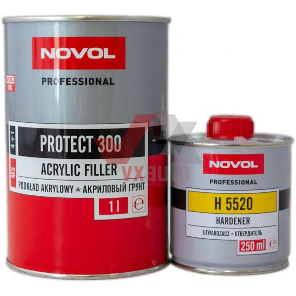 Грунт акриловий 4:1  1.0 л жовтий NOVOL MS Protect 300 (затв. 5520 - 250 мл)