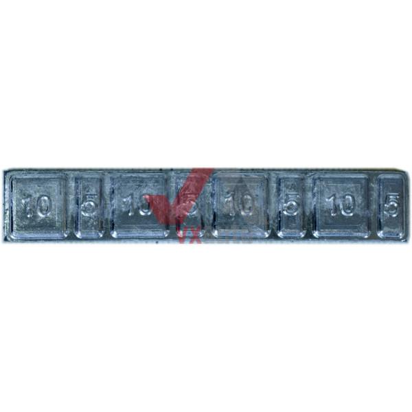 Грузи-самоклейки на титанові диски свинцеві низькі оцинковані 60 г (19 мм) (5 г + 10 г) х 4