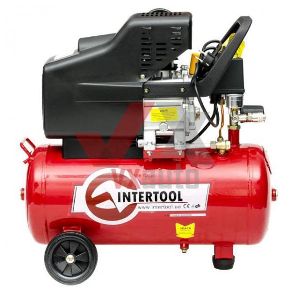 Компресор 24 л, 1.5 кВт, 220 В, 8 aтм, 206 л/хв Intertool