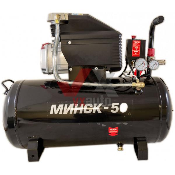 Компресор  50 л, 1,5 кВт, 220 В, 8 атм, 205 л/хв Мінськ-50 Intertool
