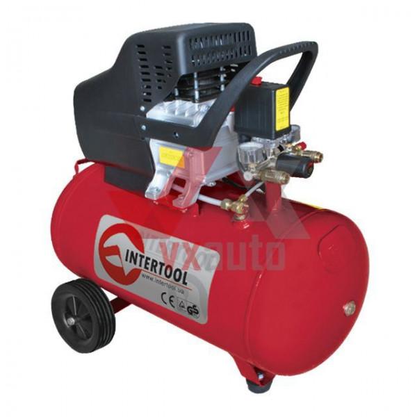 Компресор 50 л, 1.5 кВт, 220 В, 8 aтм, 206 л/хв Intertool