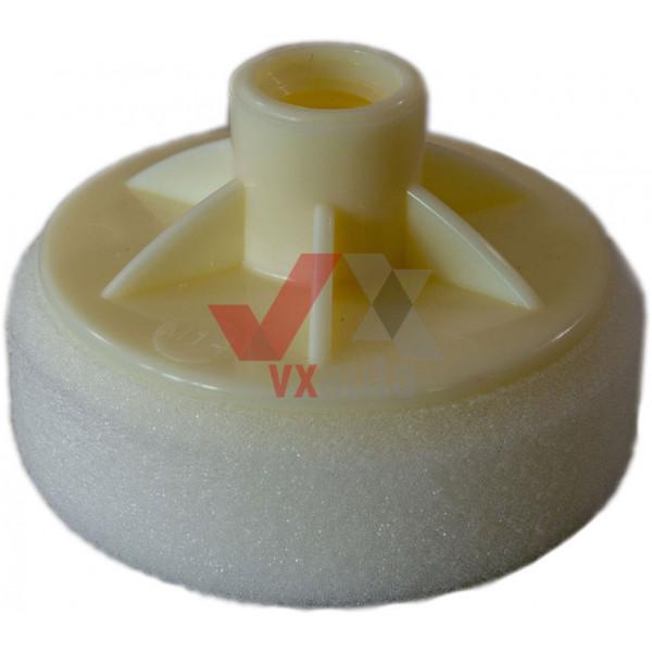 Круг полірувальний під машинку d  80 мм білий SOLL (з накладкою М14)