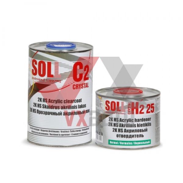 Лак акриловий 2:1  1 л SOLL 2K HS C2 Crystal (затв. H2 25 - 500 мл)