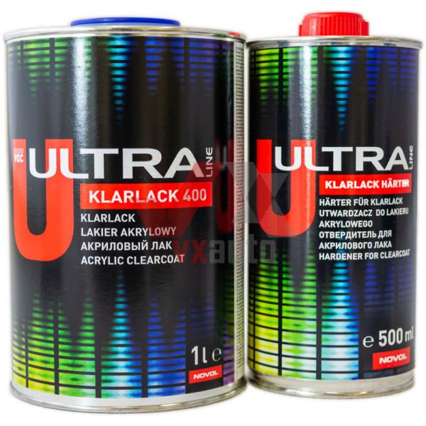 Лак акриловий 2:1  1 л ULTRA LINE Klarlack 400 (затв. Harter - 500 мл)