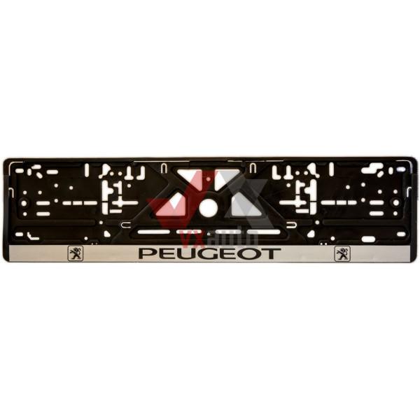 Рамка під номер (універсальна)  напис PEUGEOT, шт
