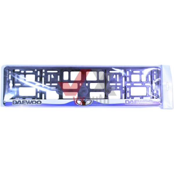 Рамка под номер (универсальная), надпись DAEWOO