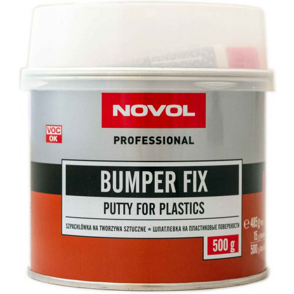 Шпаклівка для пластику 0.5 кг NOVOL Bumper Fix (темно-сіра)