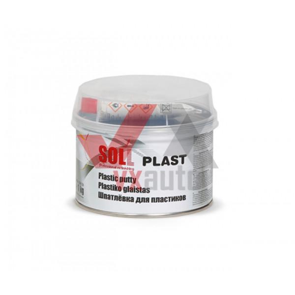Шпаклівка для пластику 1.0 кг SOLL Plast (чорна)