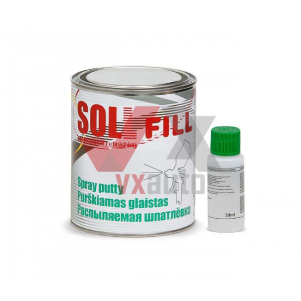 Шпаклівка розпилююча 1.0 кг SOLL Fill (сіра)