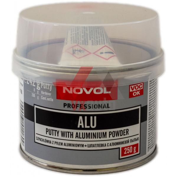 Шпаклівка з алюмінієм 0.25 кг NOVOL Alu