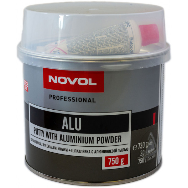Шпаклівка з алюмінієм 0.75 кг NOVOL Alu