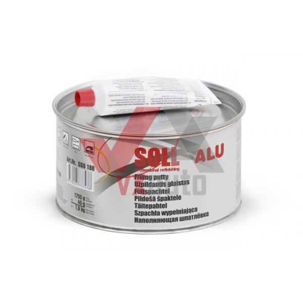 Шпаклівка з алюмінієм 1.8 кг SOLL Alu (теплостійка)